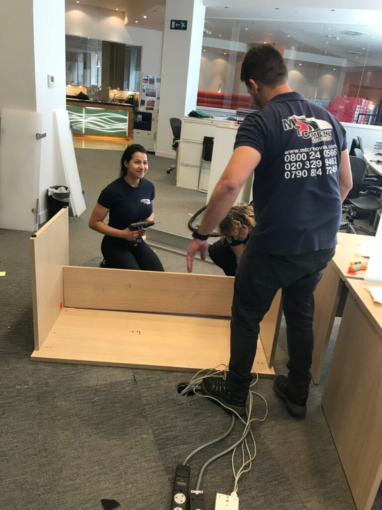 office furniture removals london